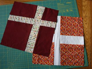 Cross blocks for AIDS quilt